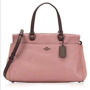 Coach Leather Fulton Satchel Dusty Rose Oxblood